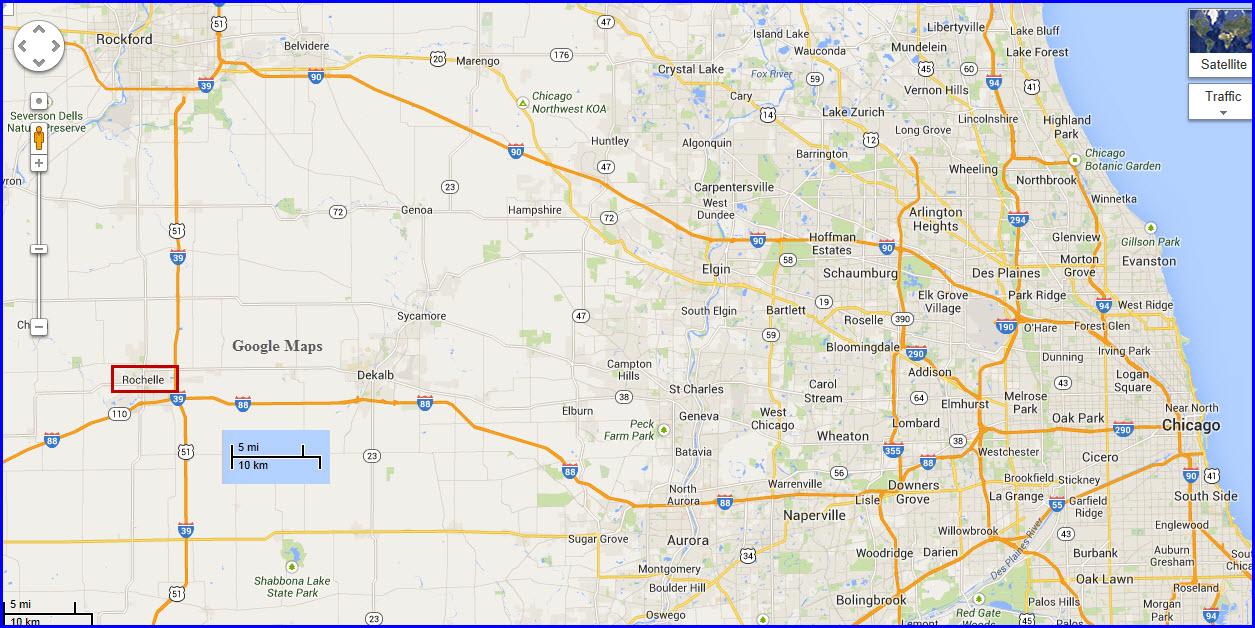 Rochelle Il Map Rochelle IL Railfan Guide Rochelle Il Map