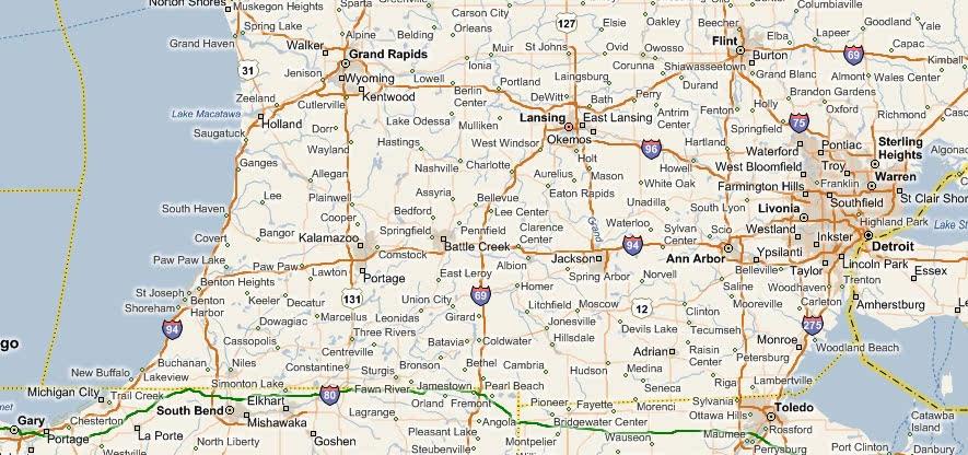 Map Of Southern Michigan Map Of Southern Michigan   compressportnederland Map Of Southern Michigan