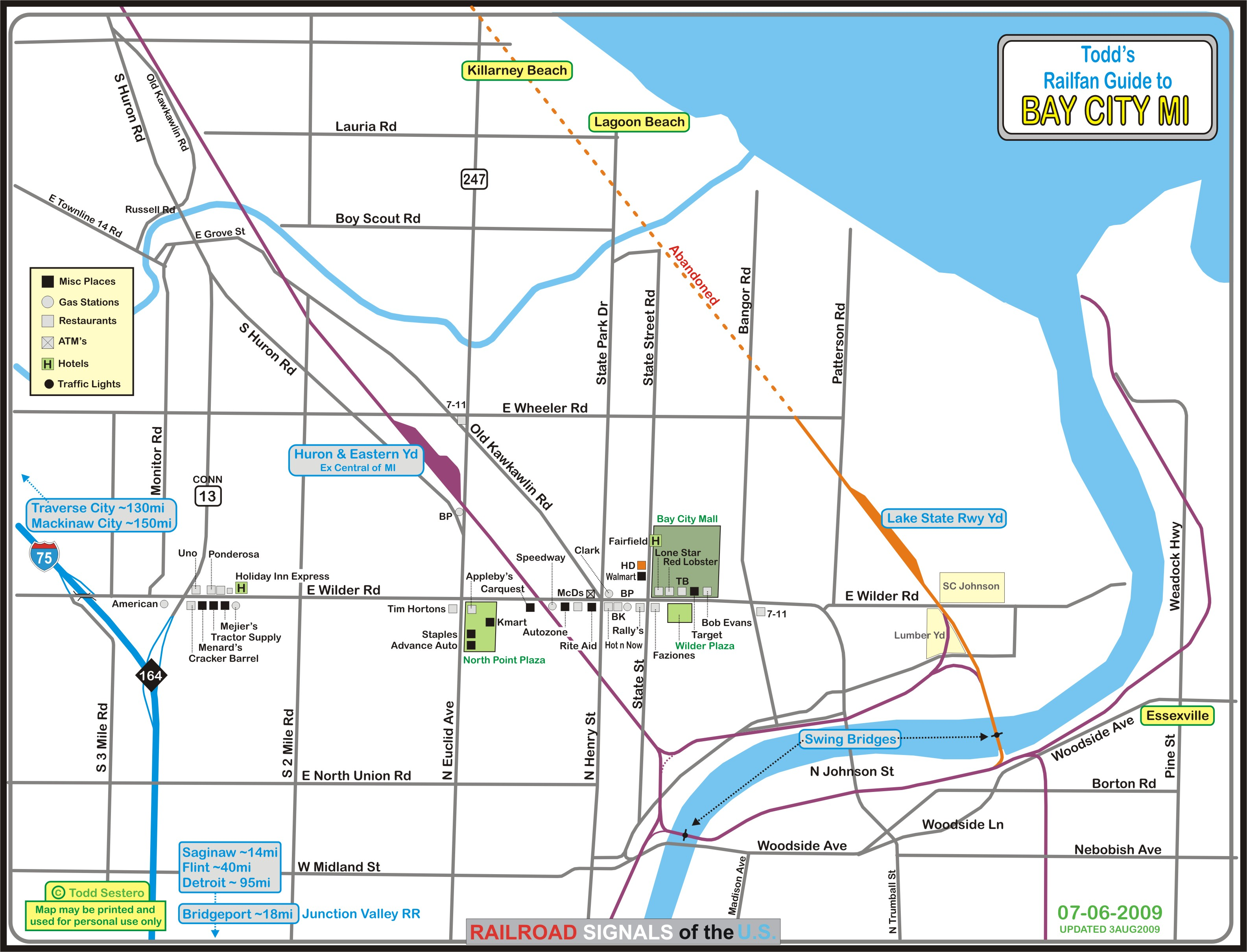 Bay City Map Bay City MI Railfan Guide