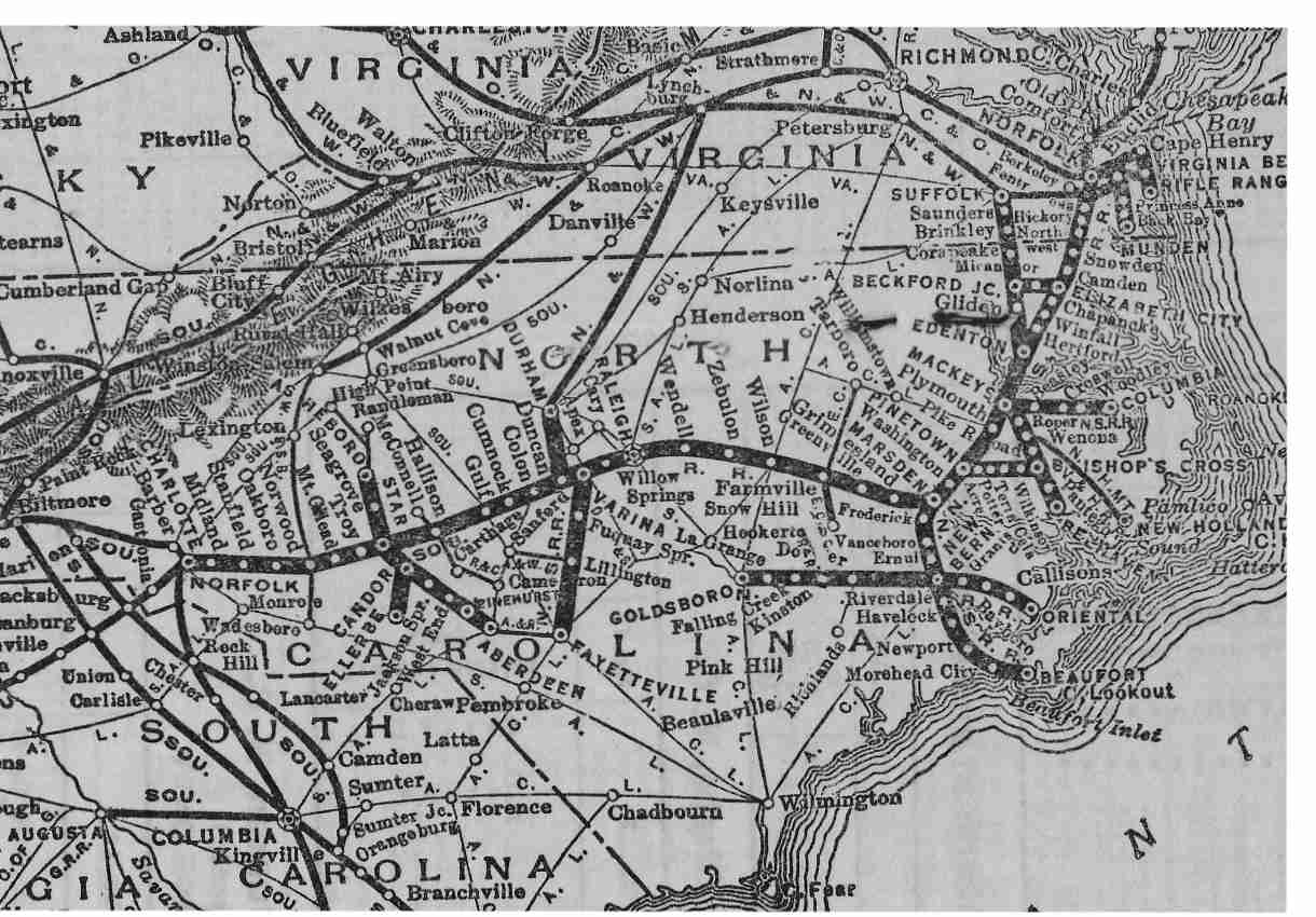 The Original Norfolk Southern Rr System Map